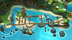 Map of Beach in Donkey Kong Country Returns