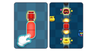Pop Cannon from Dr. Mario World. This image is squashed horizontally.