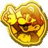 Gold badge #216 from Mario Kart Tour