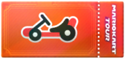 A kart Point-boost ticket from Mario Kart Tour