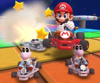 Thumbnail of the Baby Luigi Cup challenge from the Snow Tour; a Smash Small Dry Bones bonus challenge set on RMX Rainbow Road 2 (Later reused for the September 2021 Sydney Tour's Peachette Cup)