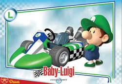 Baby Luigi trading card.