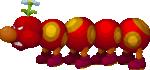 Wiggler under the effect at Paper Kamek's power in Mario & Luigi: Paper Jam.