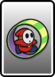 A Red Roller Guy card from Paper Mario: Color Splash