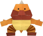An origami Sumo Bro from Paper Mario: The Origami King.