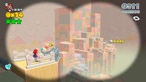 Luigi sighting in Rolling Ride Run in Super Mario 3D World.