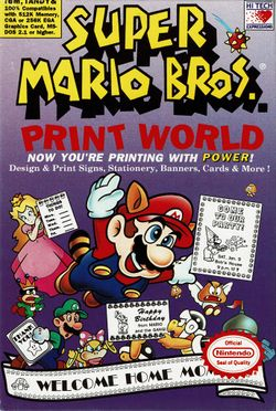 Box art for Super Mario Bros. Print World