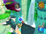 Mario approaching the shell and its secret level in Noki Bay.