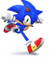 Artwork of Sonic the Hedgehog, from Super Smash Bros. for Nintendo 3DS / Wii U.