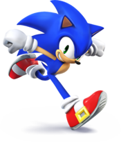 Artwork of Sonic the Hedgehog, from Super Smash Bros. for Nintendo 3DS / Wii U.