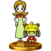 9 Volt and His Mother trophy from Super Smash Bros. for Wii U