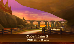 Cobalt Lake 3 overview from Mario Sports Superstars
