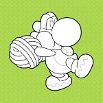 The icon for Colour in Yoshi from Nintendo Kids Club