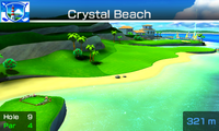 Hole 9 of Crystal Beach from Mario Sports Superstars