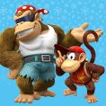 Option in a Play Nintendo opinion poll on which pair of Kongs to play as in the Nintendo Switch version of Donkey Kong Country: Tropical Freeze. Original filename: <tt>1x1_DKCTFSwitchPoll1_Funky_Diddy_v01_RTb7b89.6ef5f3152e16d0ba.jpg</tt>