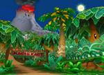 The icon for DK Mountain, from Mario Kart Double Dash!!.