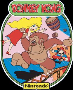 Donkey Kong - cabinet side art