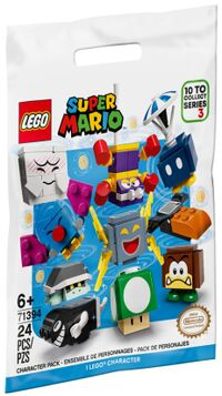 The packaging of series 3 of the LEGO Super Mario Character Packs.