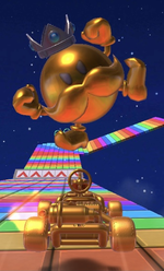 King Bob-omb (Gold) performing a trick.