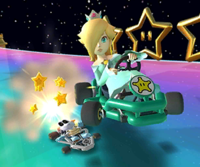 The icon of the Rosalina Cup's challenge from the 2020 Trick Tour in Mario Kart Tour.