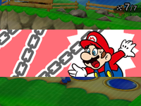 Mario being hit by Kamek from Coinathlon in Mario Party: Star Rush