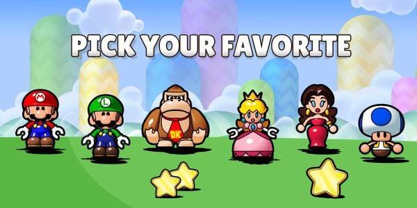 Banner for a Play Nintendo opinion poll on Mini toys from Mario vs. Donkey Kong: Tipping Stars. Original filename: <tt>2x1-tipping_stars.0290fa9874e6c2e6db1c3f61b1e85eb024429302.jpg</tt>