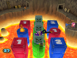 Gameplay of Number Crunchers from Mario Party 7.