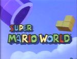 The title intro for the Super Mario World television series