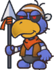 Sprite of a Dark Craw from Paper Mario: The Thousand-Year Door
