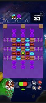 Stage 284 from Dr. Mario World