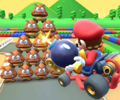 The icon of the Lemmy Cup challenge from the 2019 Paris Tour in Mario Kart Tour