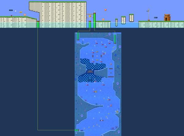 New Super Luigi U level map