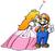 Princess Peach kissing Mario