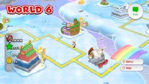 Luigi sighting found on the World 6 map in Super Mario 3D World.