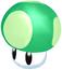A 1-Up Mushroom from Super Mario Sunshine.