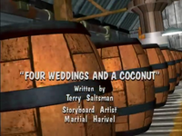 The title screen for Four Weddings and a Coconut