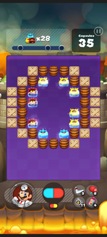Stage 401 from Dr. Mario World