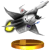 The Great Fox trophy, from Super Smash Bros. for Nintendo 3DS.