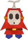 An origami Fly Guy from Paper Mario: The Origami King.