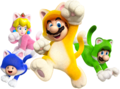 Cat Crew Group Artwork - Super Mario 3D World.png
