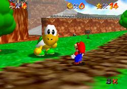 Koopa the Quick challenging Mario.
