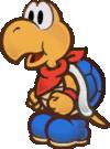 An image of Kooper, unused in Super Paper Mario.