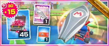 The Silver Surf Master Pack from the September 2021 Sydney Tour in Mario Kart Tour
