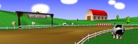 Moo Moo Farm from Mario Kart 64.