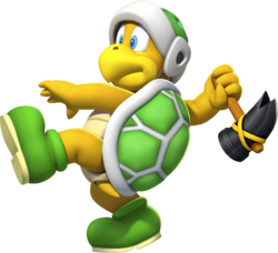 Hammer Bro in New Super Mario Bros. U