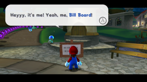 A Bill Board from Super Mario Galaxy