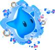Artwork of a blue Luma from Super Mario Galaxy