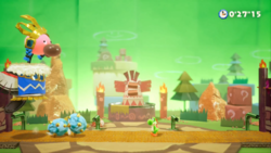 The Tin-Can Condor stage from Yoshi's Crafted World