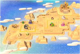 A map of World 2 (Super Mario 3D World).
