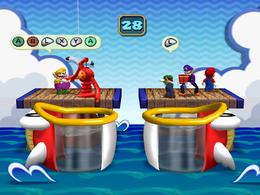 Luigi sad in Fish n' Drips from Mario Party 4